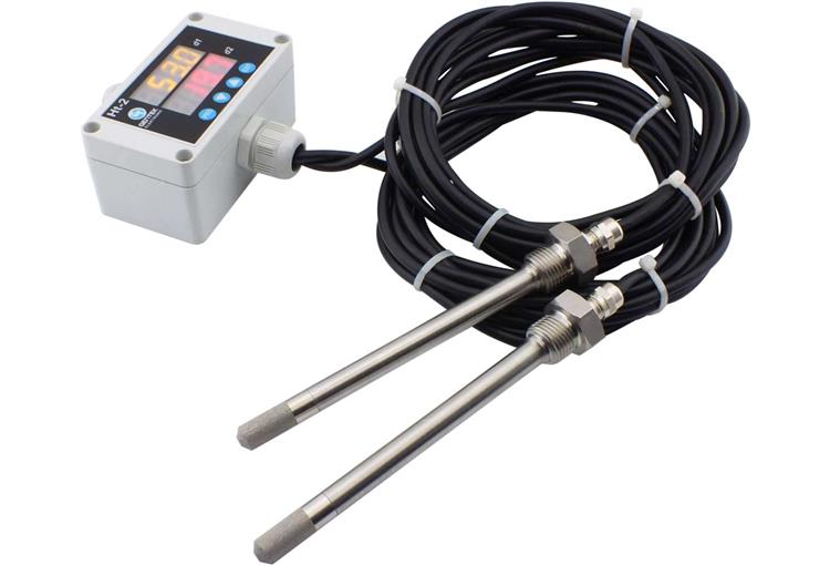 Indicated, Wired, Dual Sensor, Stainless Steel Probe, Filtered Temperature Humidity Transmitter