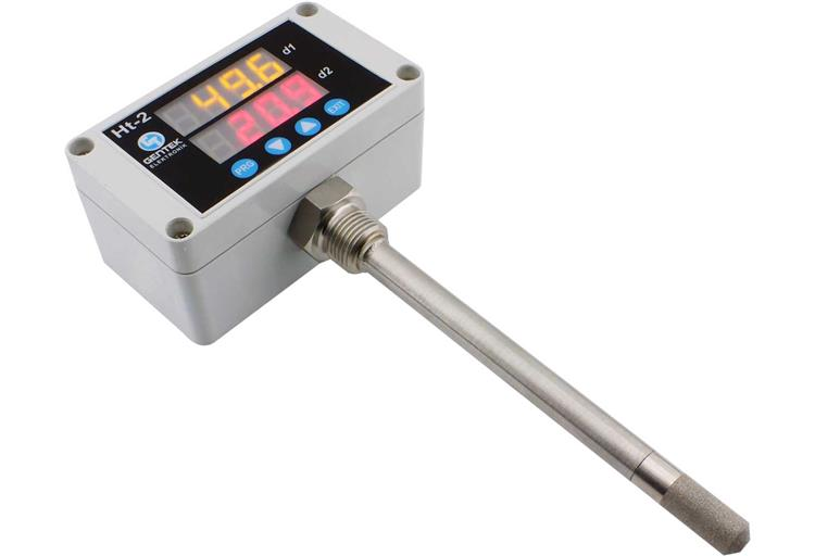 Indicated, Stainless Probe, Filtered Temperature Humidity Transmitter